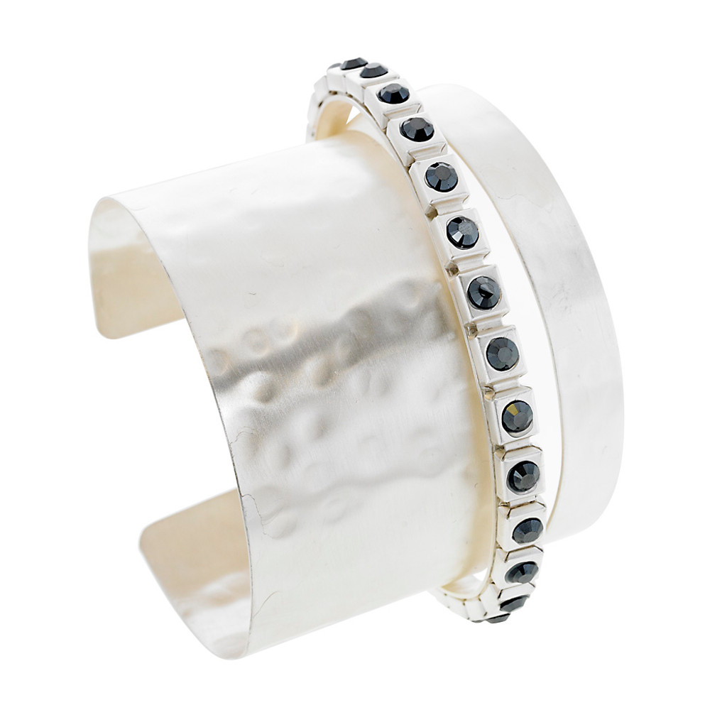 Jet Crystal Banded Cuff