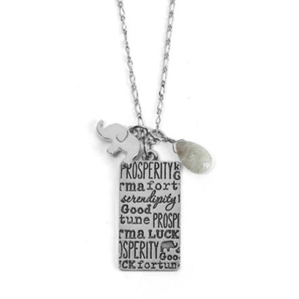 Good Fortune Elephant Necklace