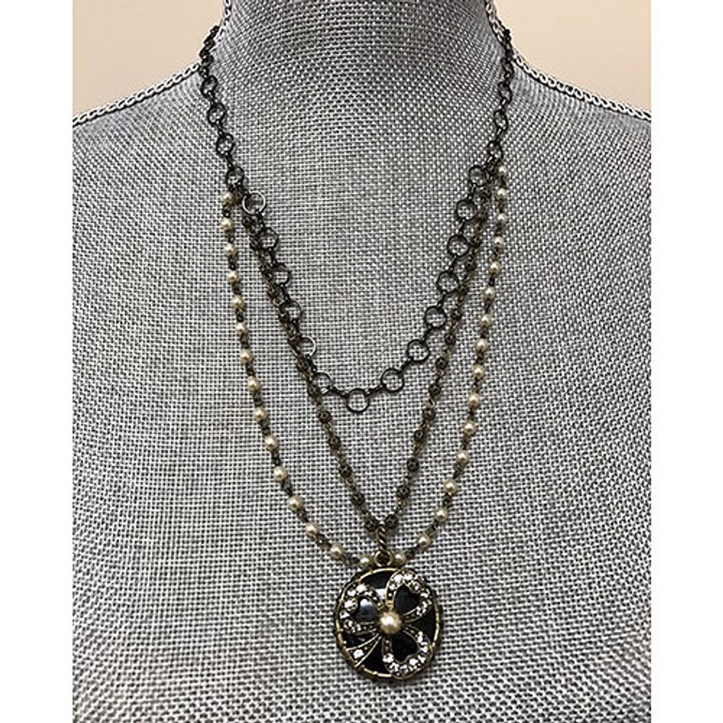 Vintage Lucky Clover Necklace