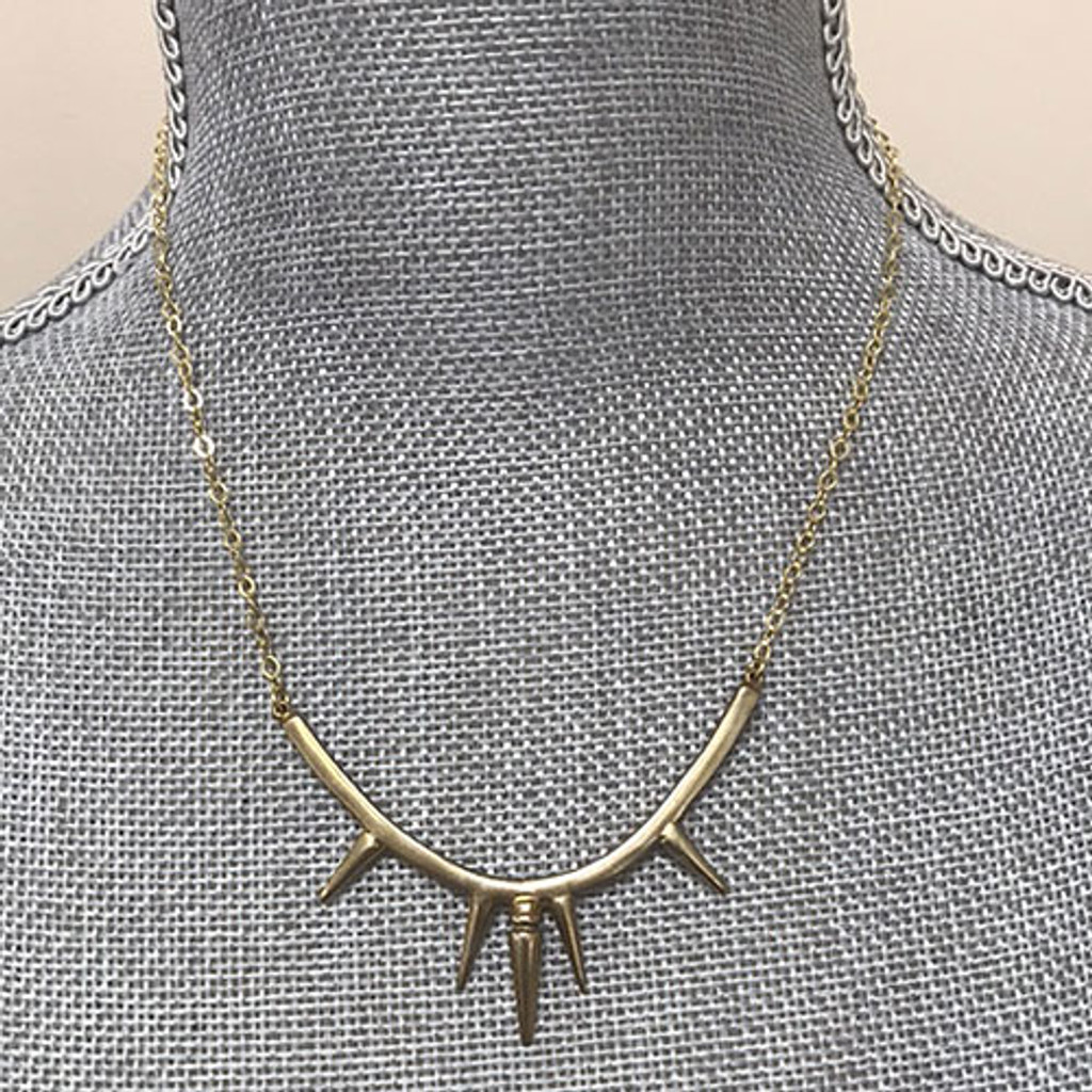 Iron Maiden Necklace in Gold