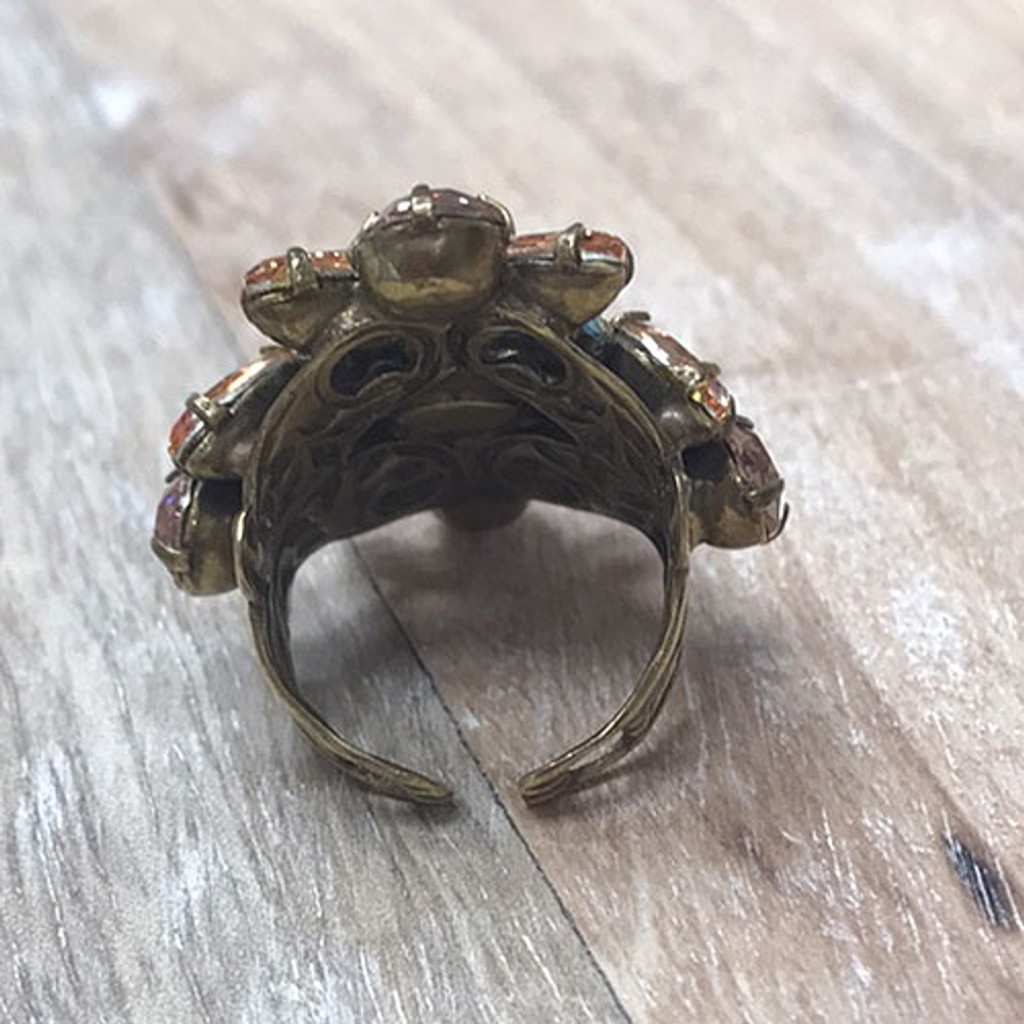 Sorrelli Apricot Large Statement Ring