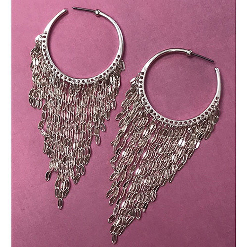 Hoops with Chain Fringe