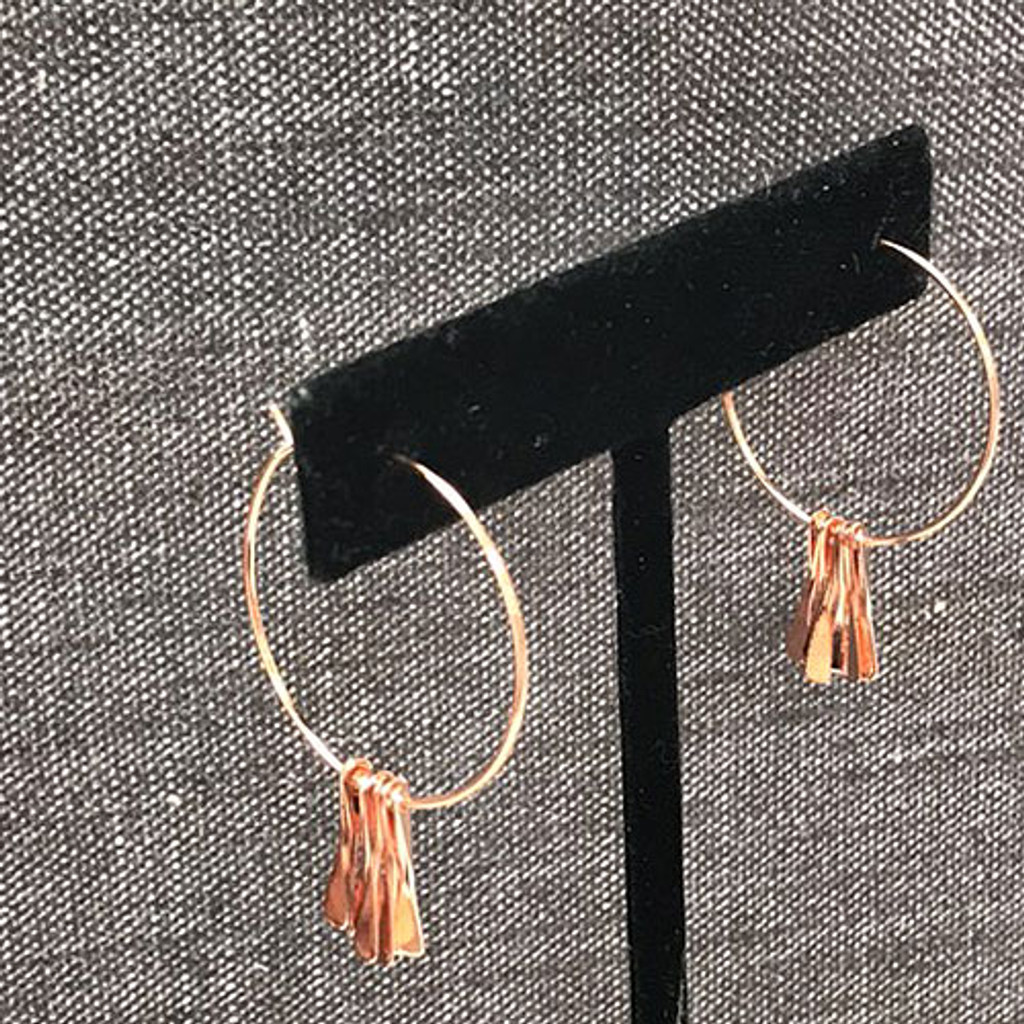 Simple Rose Gold Hoop with Dangles