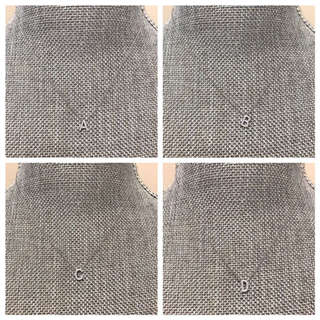 Perfect Lil CZ Slide Initial Necklace