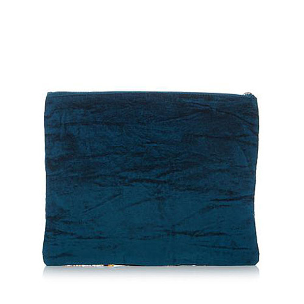 Steve Madden's Crushed Velvet Ginger Clutch