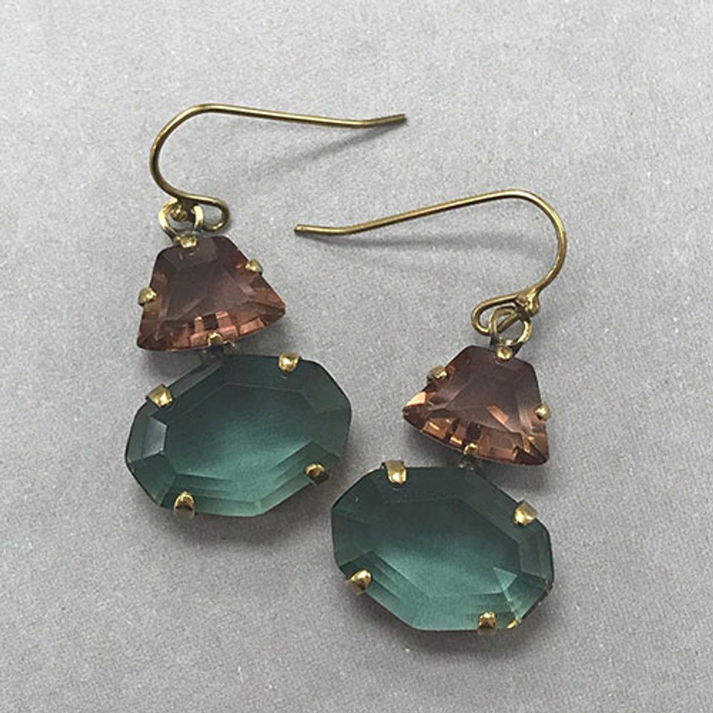 Sorrelli Teal & Amethyst Statement Earring