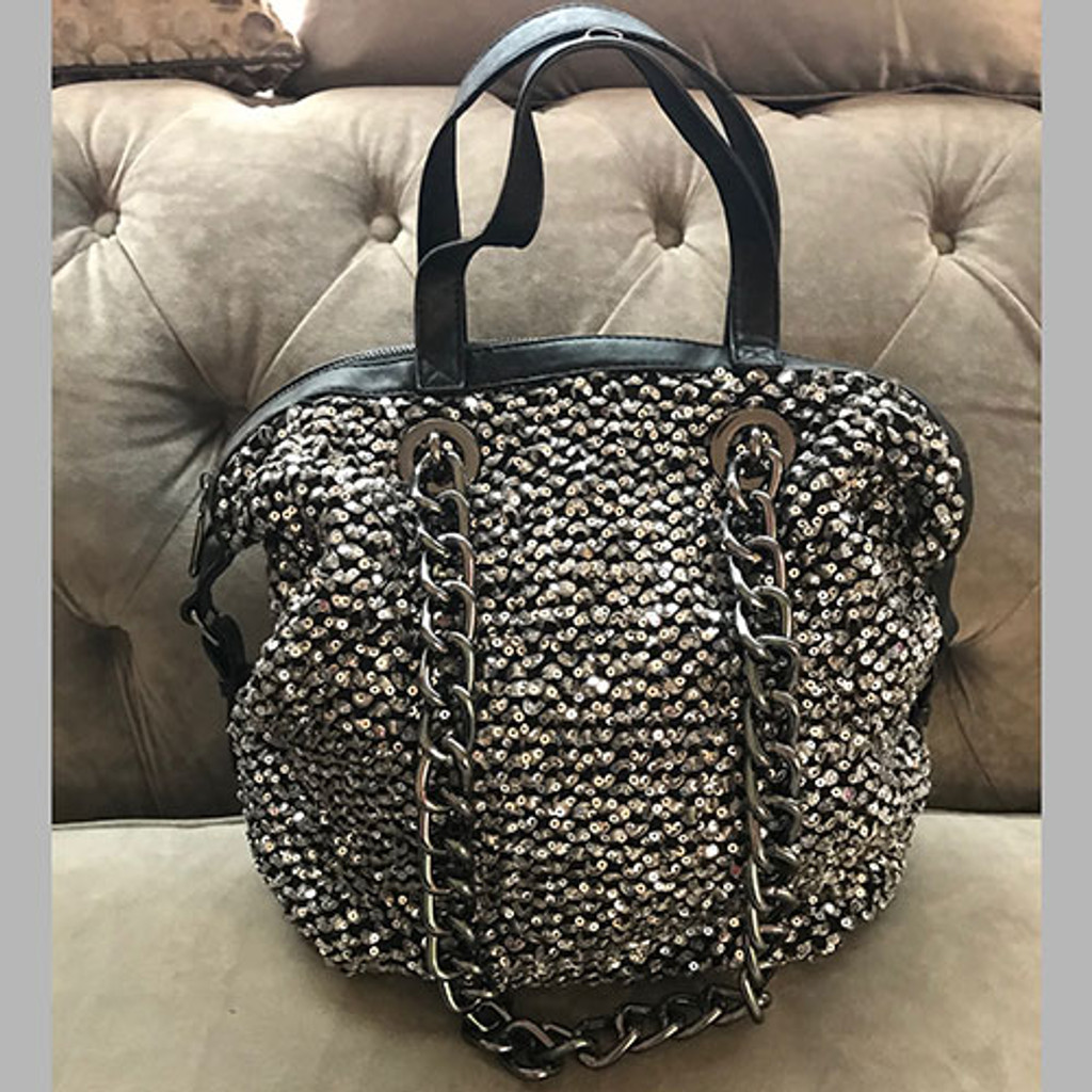 Silver Slouchy Satchel