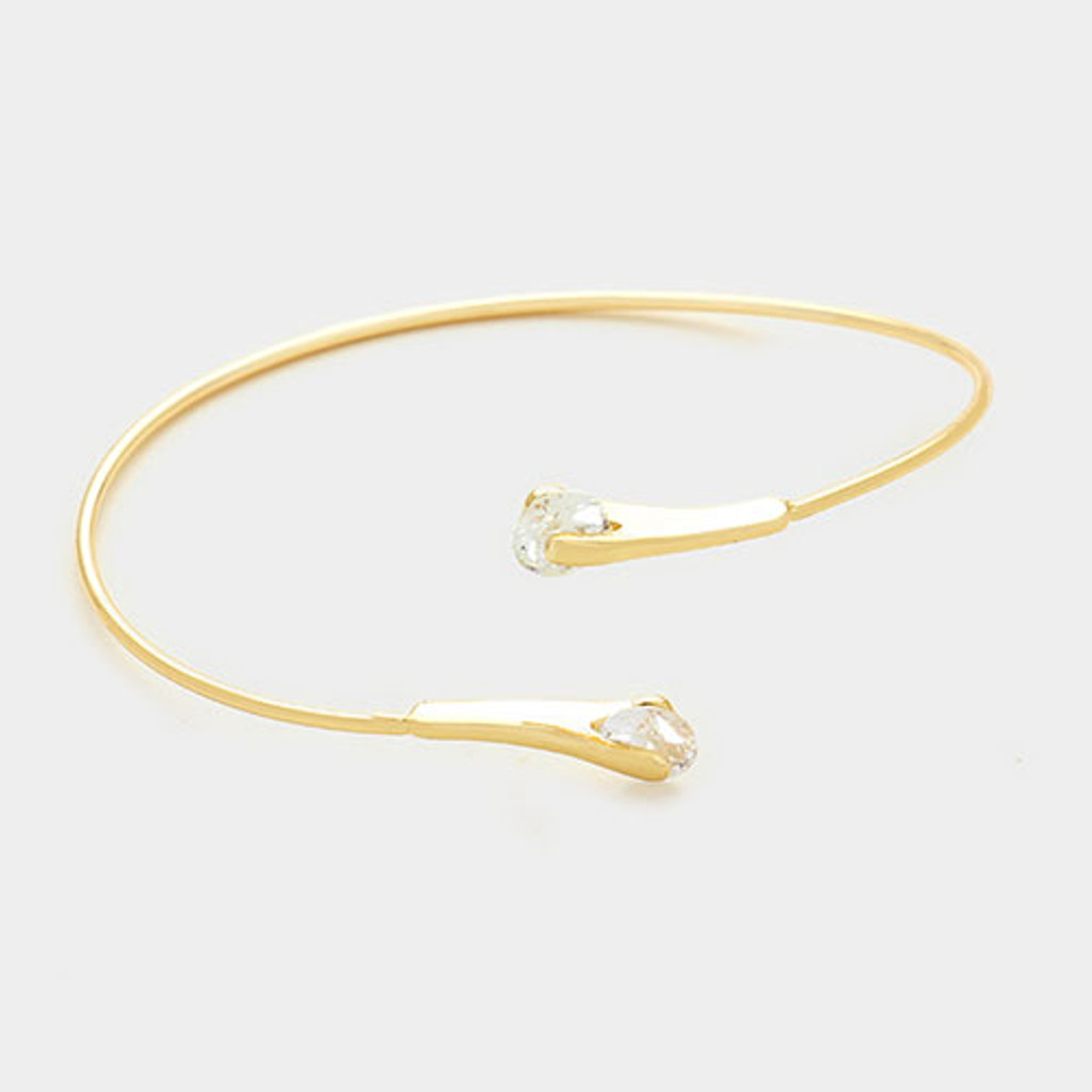 Cubic Zirconia Tipped Wire Cuff