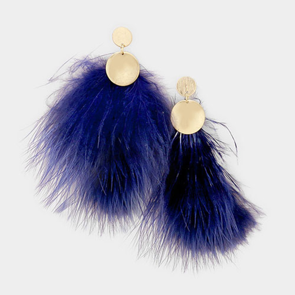 Floofy, Fluffy Feather Earrings