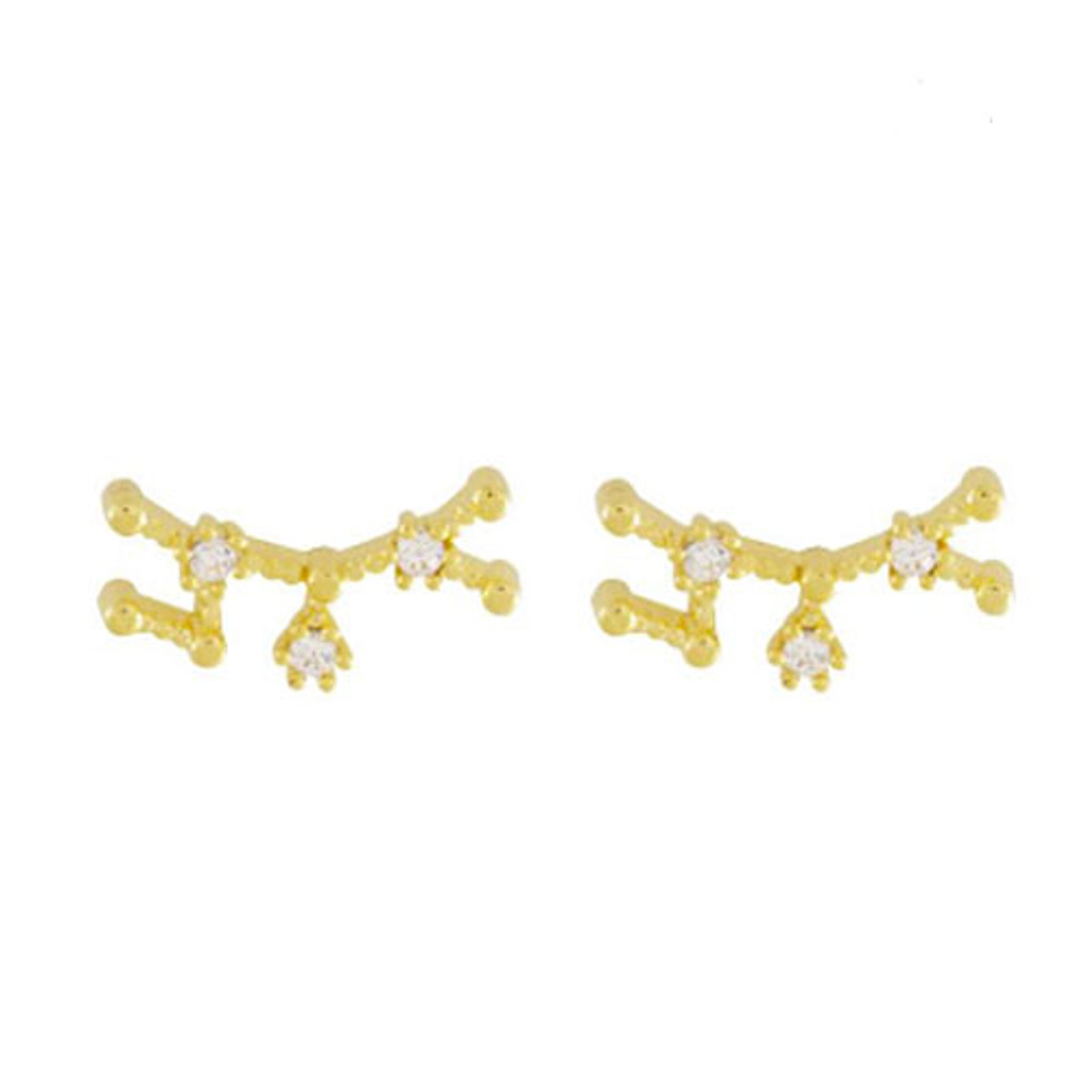 Wanderlust & Co. Sagittarius Zodiac Constellation Cubic Zirconia Earrings