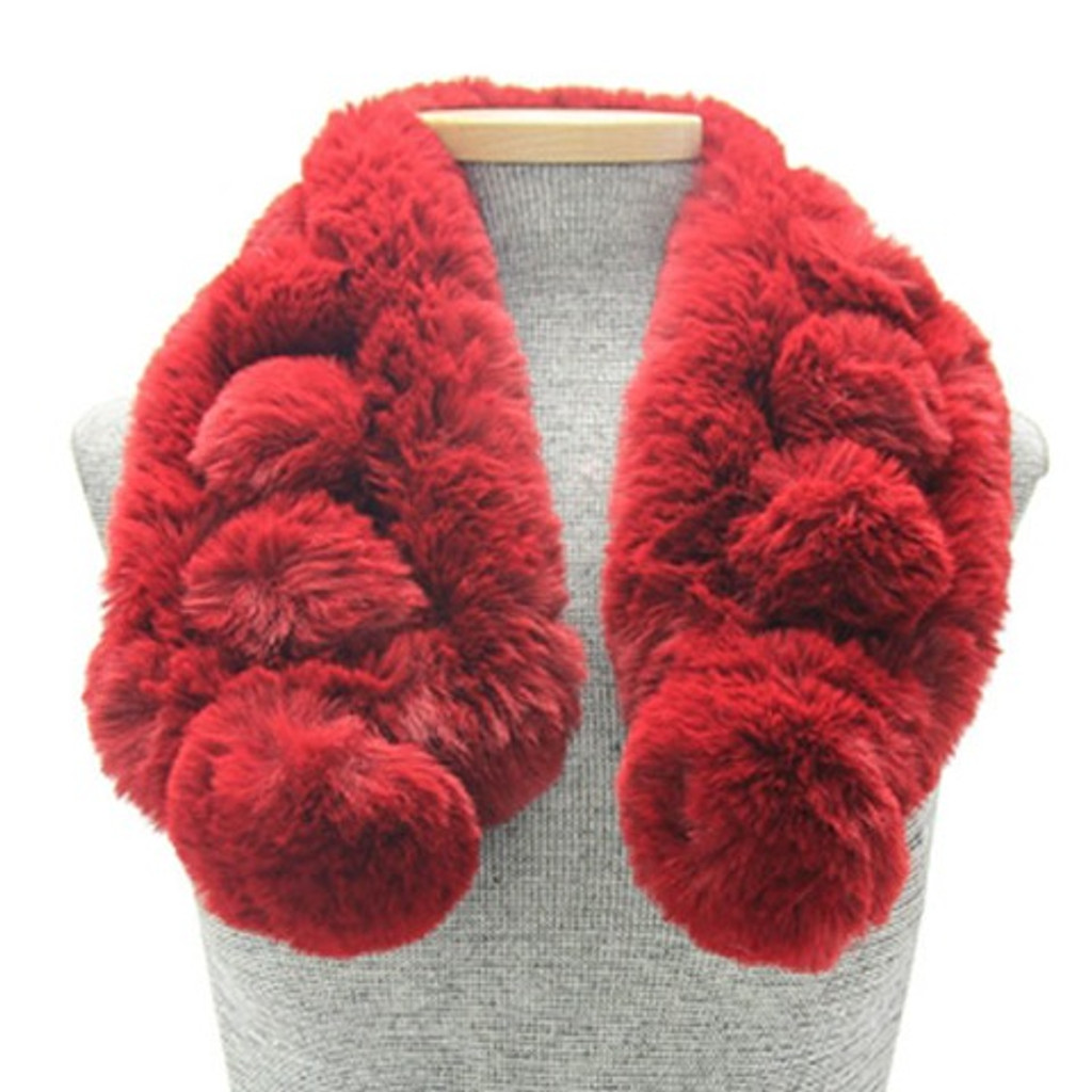 PomPom Pull Through Collar Scarves