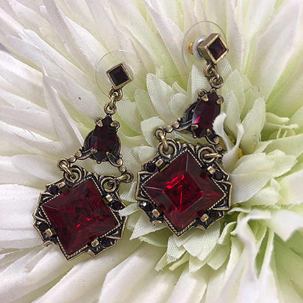 Deco Vintage Square Earrings