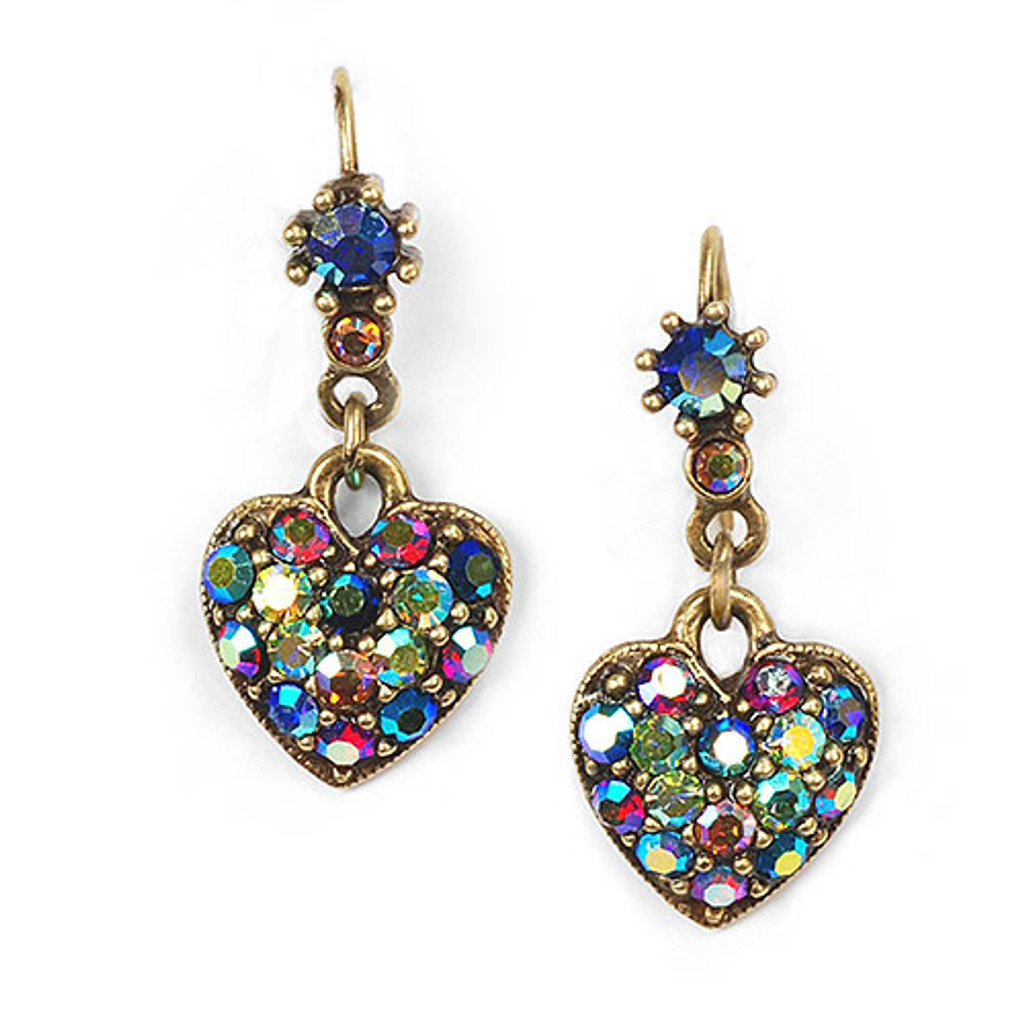 Crystal Hearts Dangle Earring