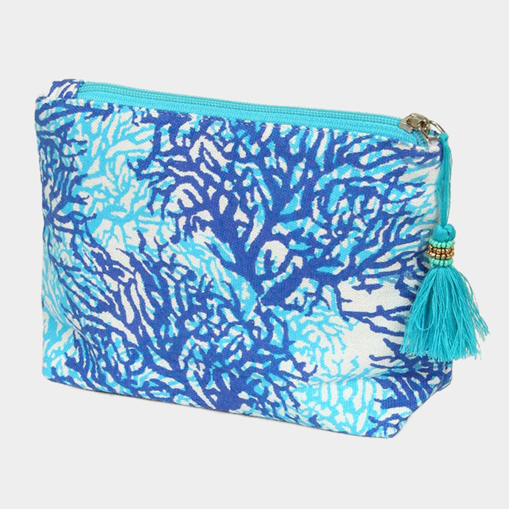 """Perfect Grab & Go"" Coral Beach Clutch"
