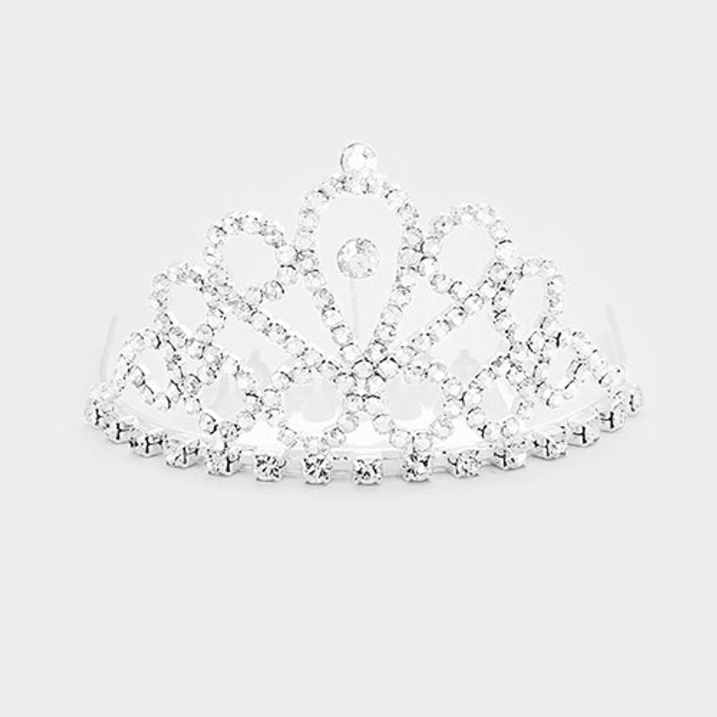 Clear Crystal Mini Tiara Comb