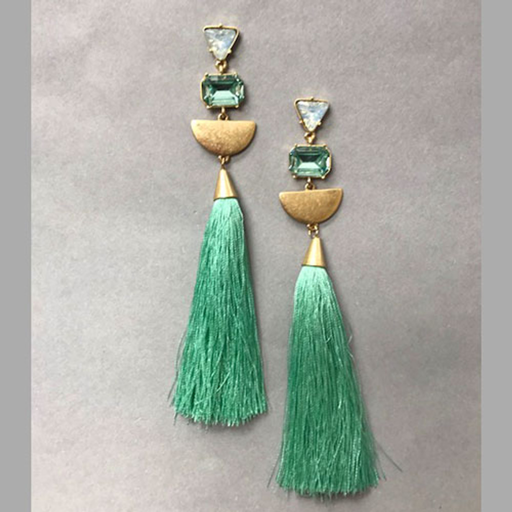 Kiki's Triple Linked Tassel Earrings