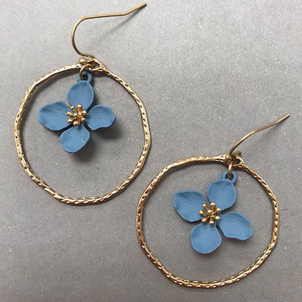 937373acecfb2 Flower in Hoop Earring