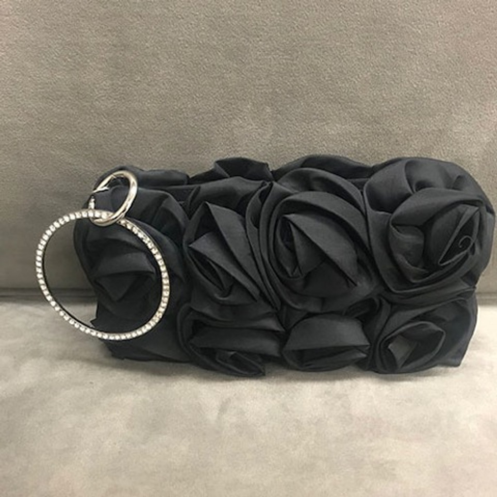 Rolled Roses Clutch/Wristlet