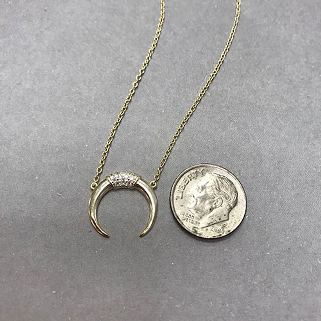 Dainty Long Horn Necklace