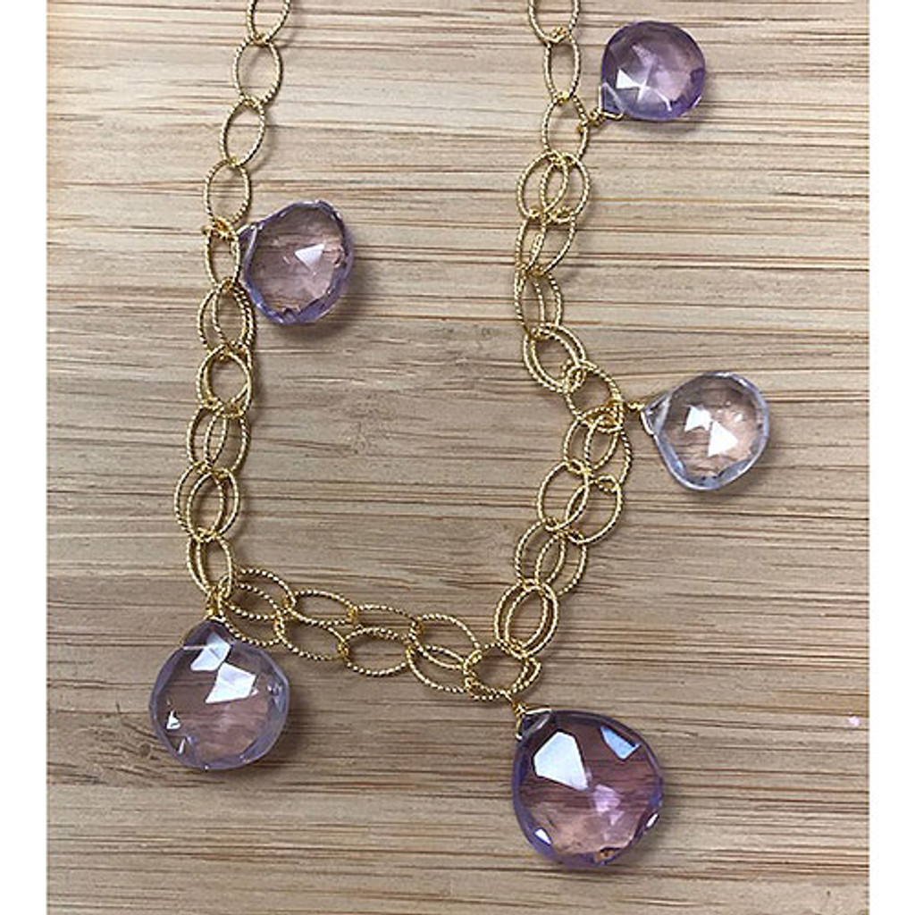 Shades of Amethyst Open Chain Necklace