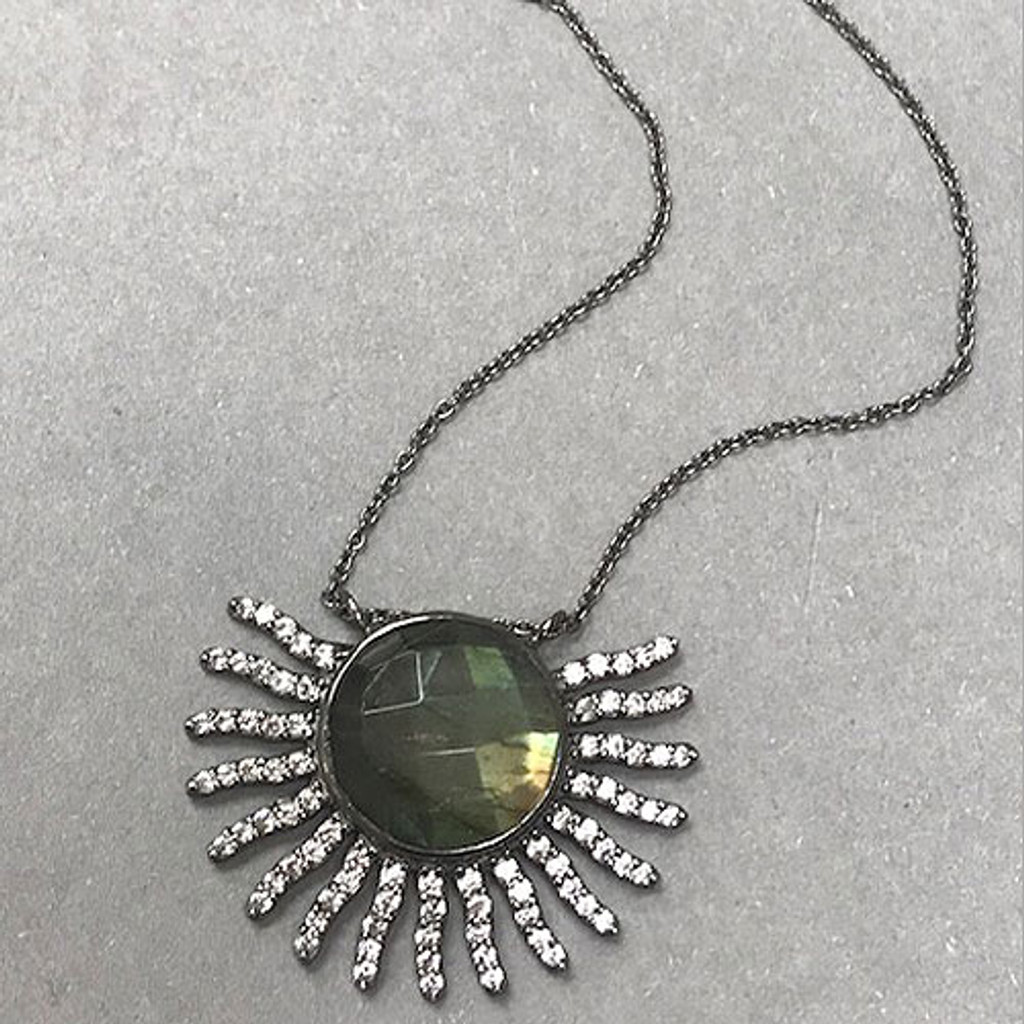 Genuine Labradorite Apache Sun Necklace