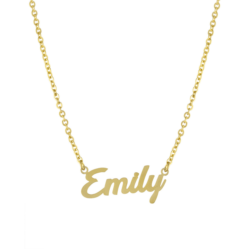 Custom Rounded Script Name Necklaces