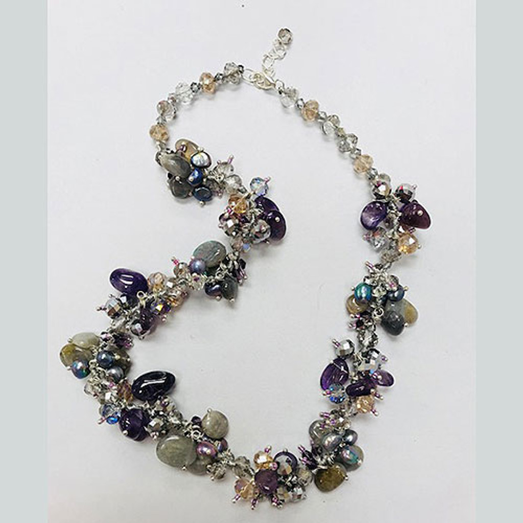 Our Romantic Storm Amethyst & Labradorite Necklace