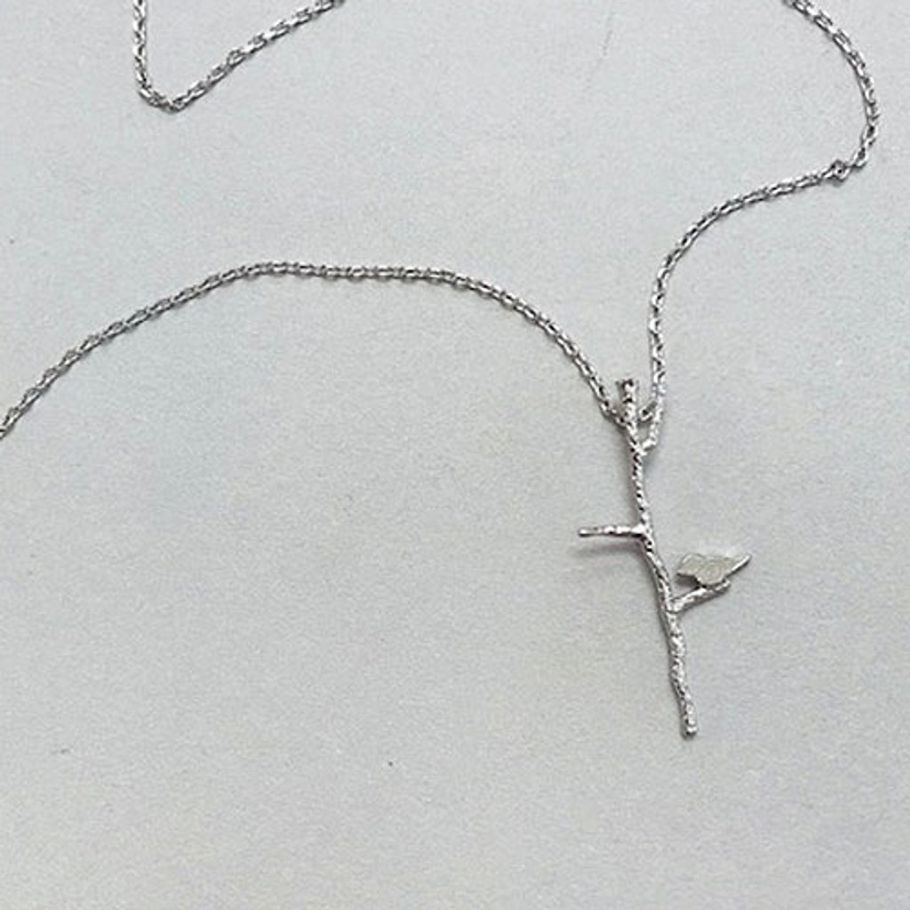 Lil' Bird On A Branch Necklace