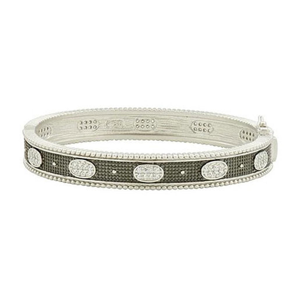 Freida Rothman Oval Eternity Hinged Bangle
