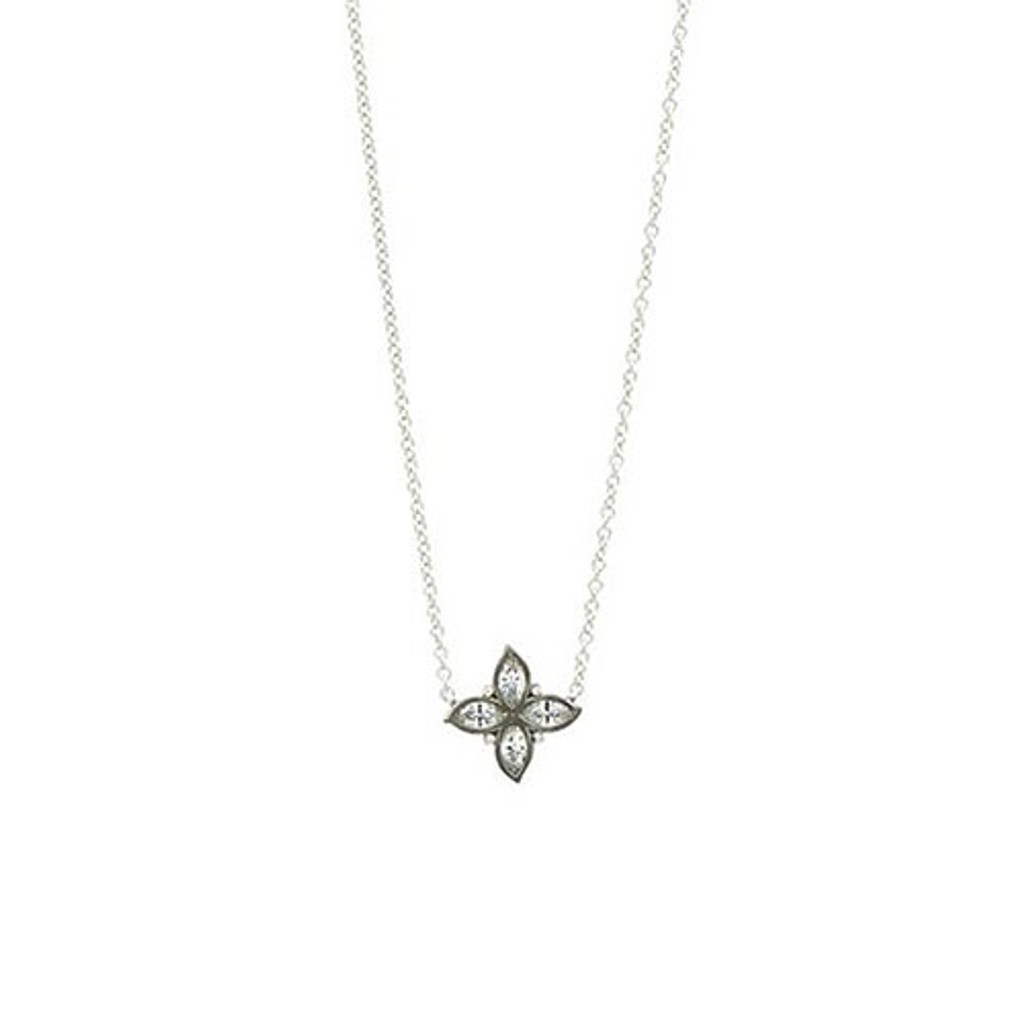 Freida Rothman Bloom Clover  Pendant Necklace