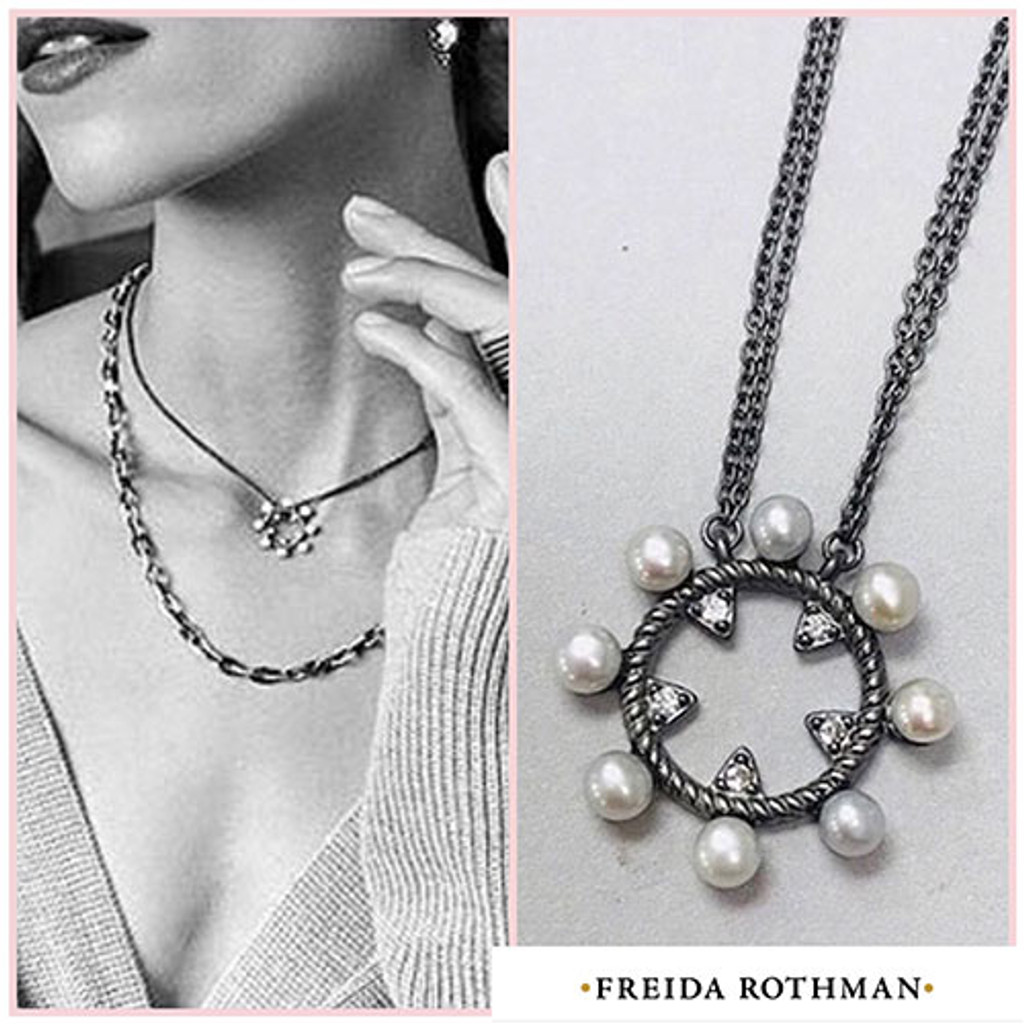 Freida Rothman Industrial Finish Small Open Pendant Necklace