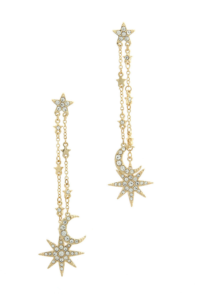 Long Starry Night Earring
