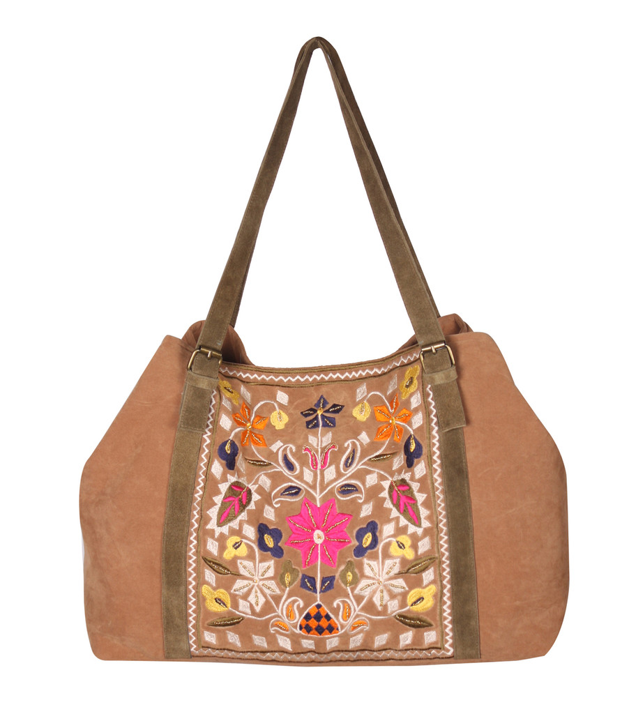 Ibiza Embroider Spacious Shoulder Bag