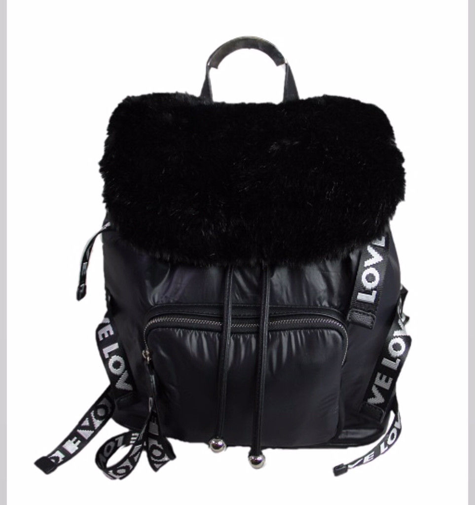 Black LOVE Strap City Slicker Backpack