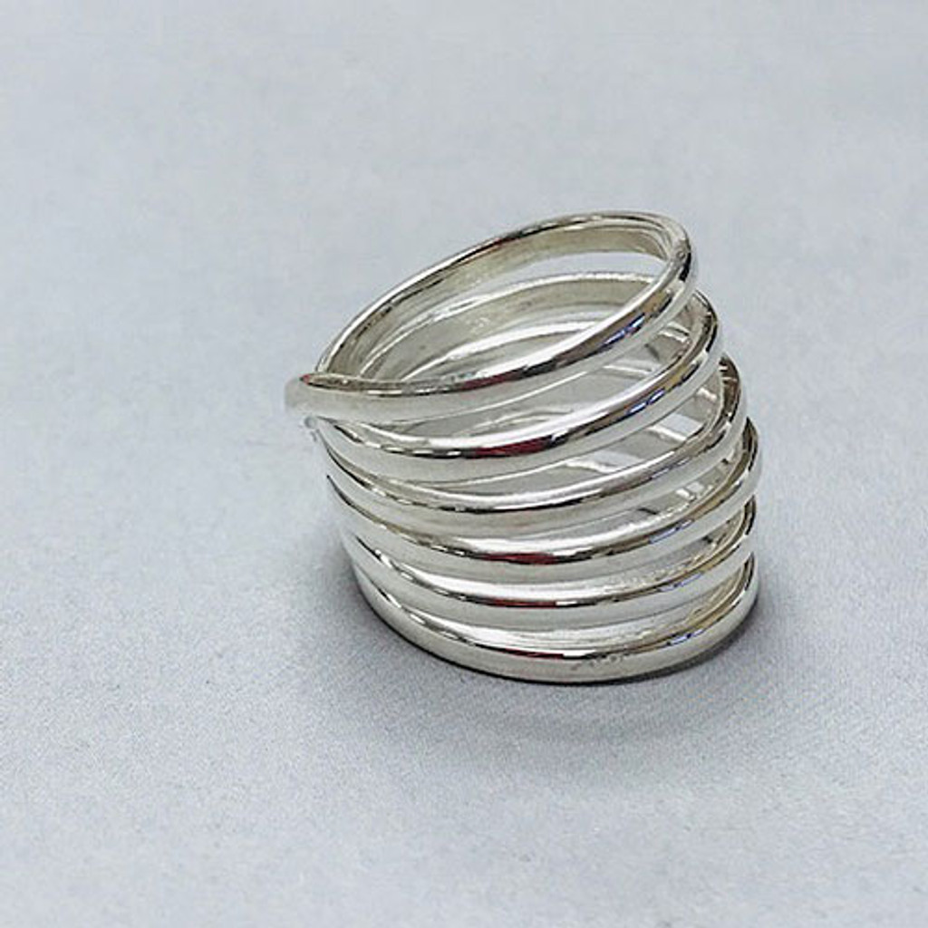 Sterling Silver Continuous Loop Dome Ring