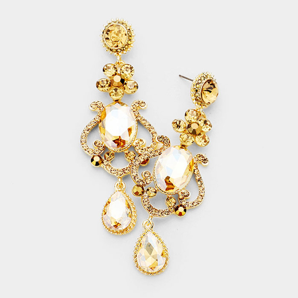 The Gwyneth Golden Crystal Earring