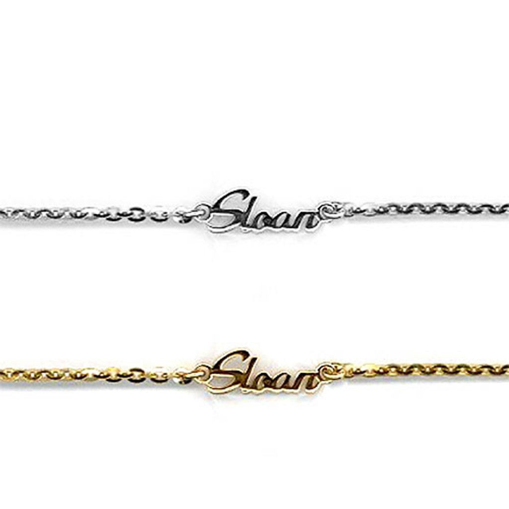 Custom Rounded Script Name Bracelet