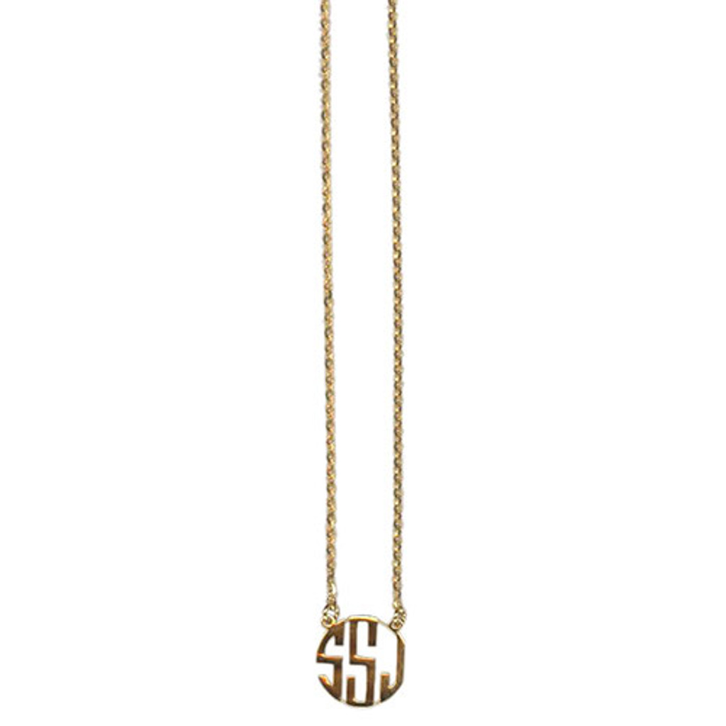 Modern Personalized Monogram Necklace