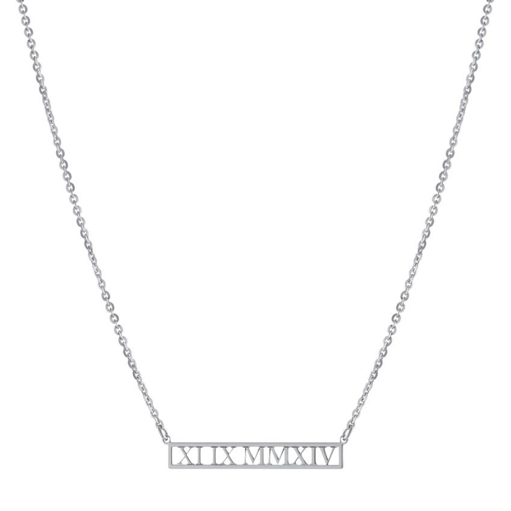 Custom Roman Numeral Necklace