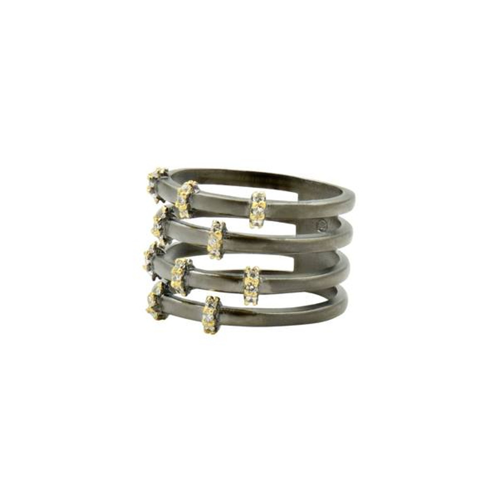 Freida Rothman Imperial Pavé Cage Ring