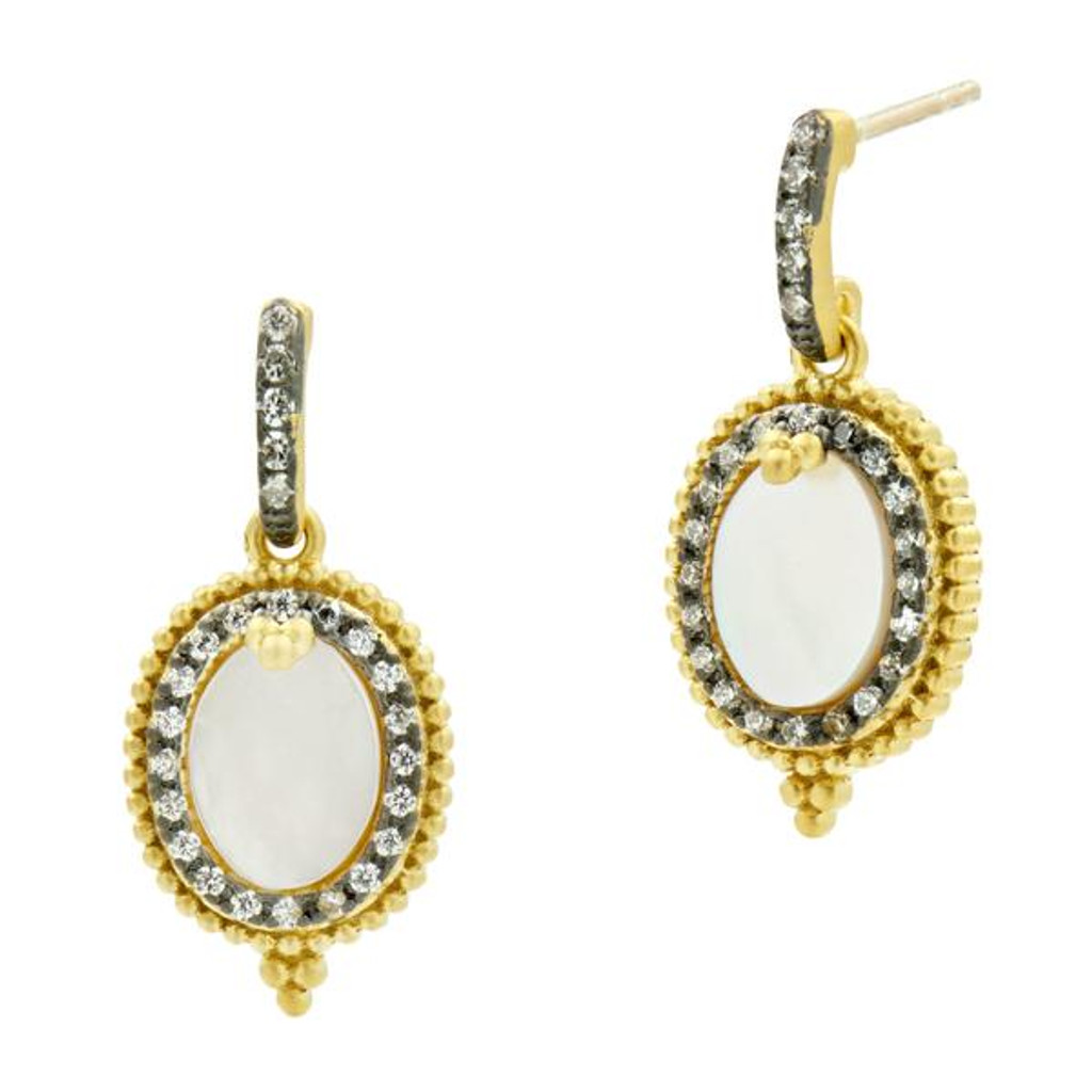 Freida Rothman Mother-of-Pearl Mini Drop Earrings