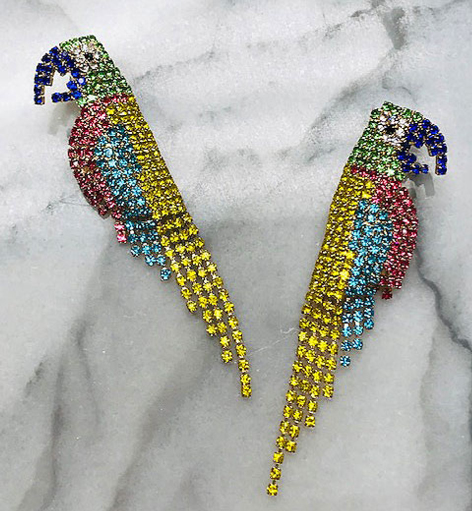 Polly the Parrot Colorful Earring