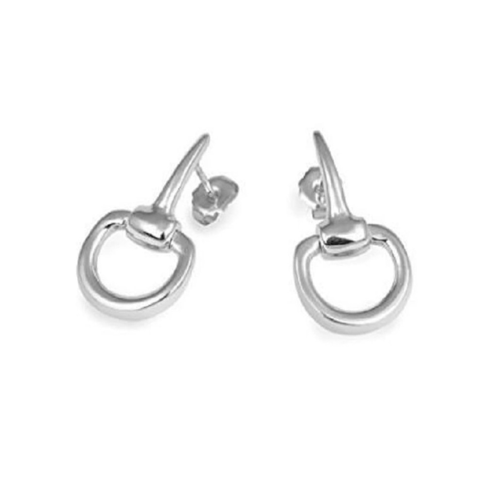 Sterling Silver Horse Bit Earrings
