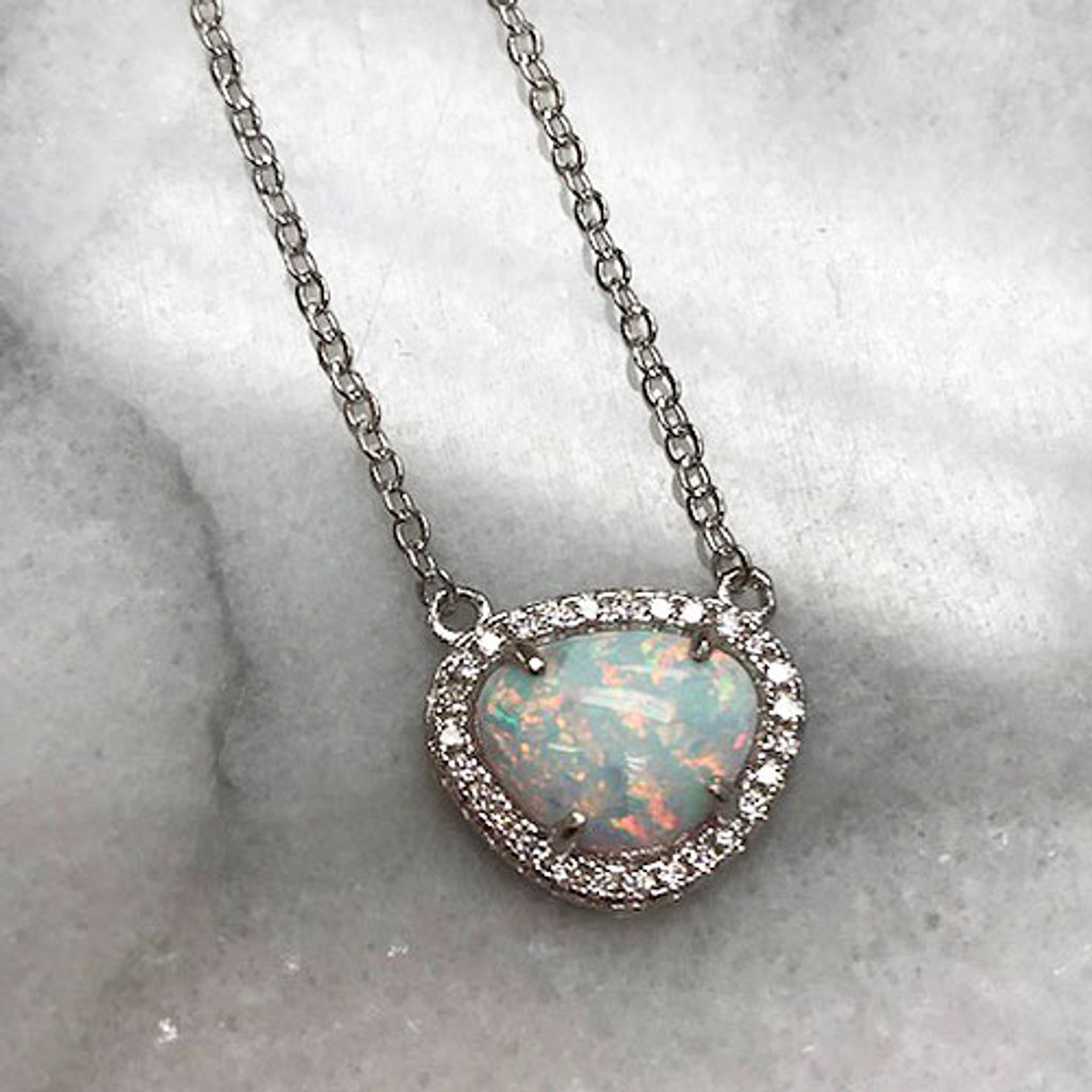 Opal With Micro Pave Setting