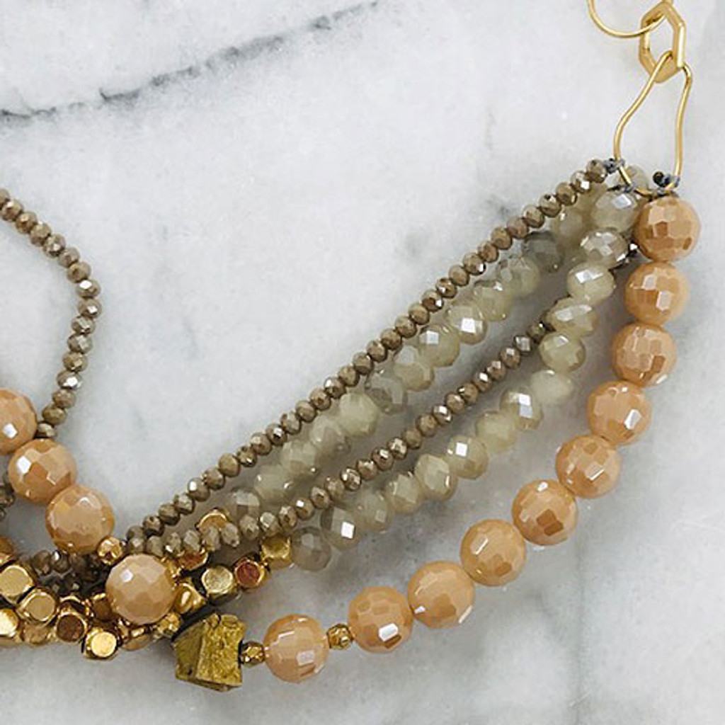Twisted Multi-Beaded Strand Neutral Necklace
