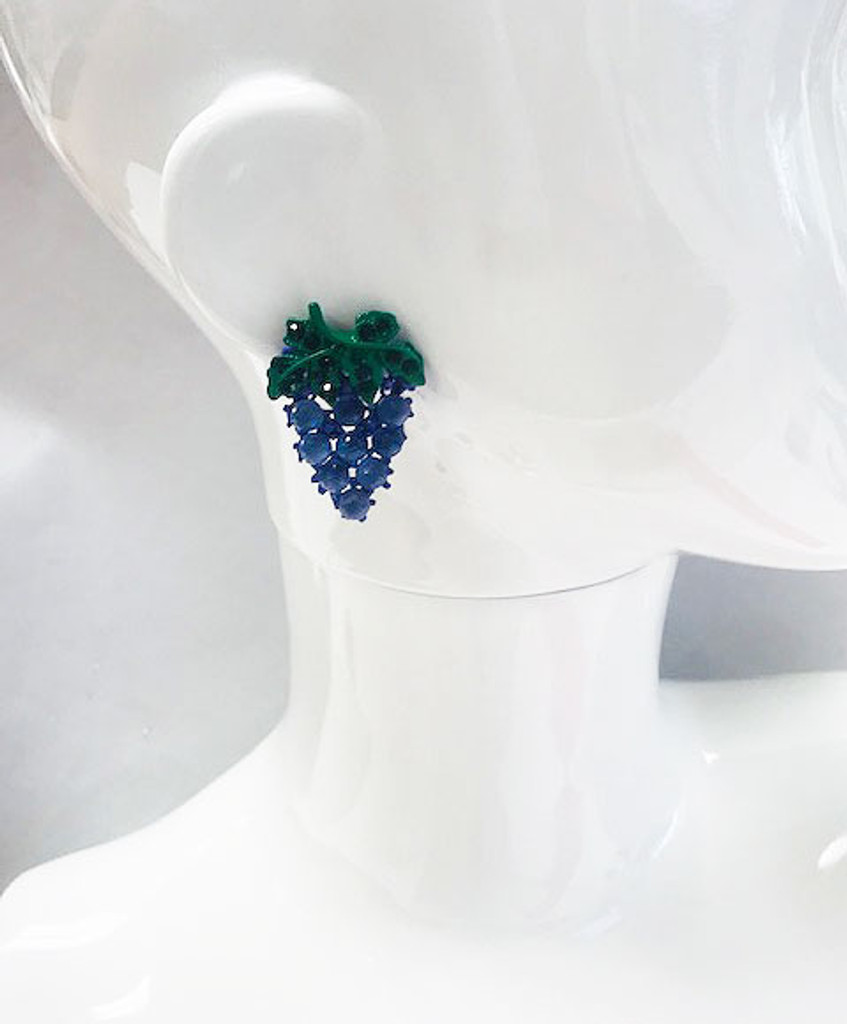 Crystal Bunch of Grapes Earrings