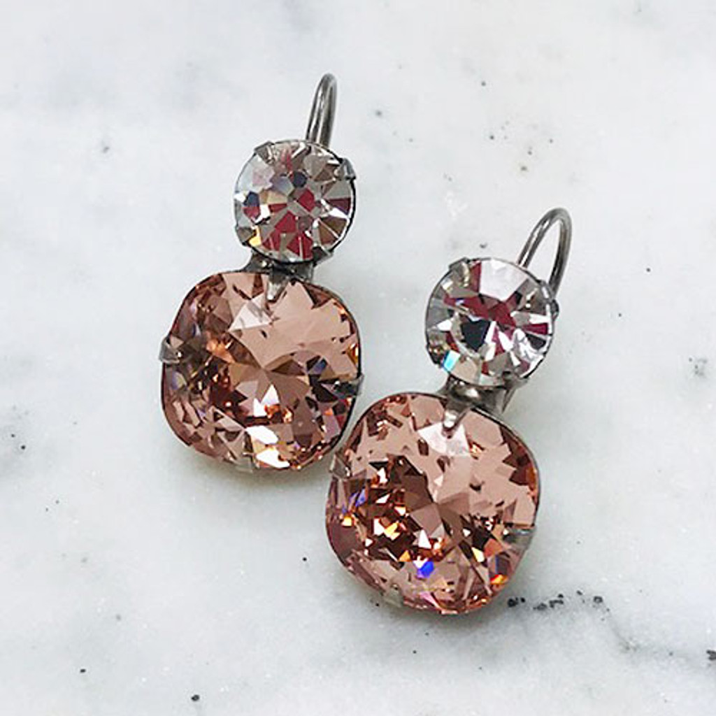 Sorrelli Double Crystal Vintage Rose Earring