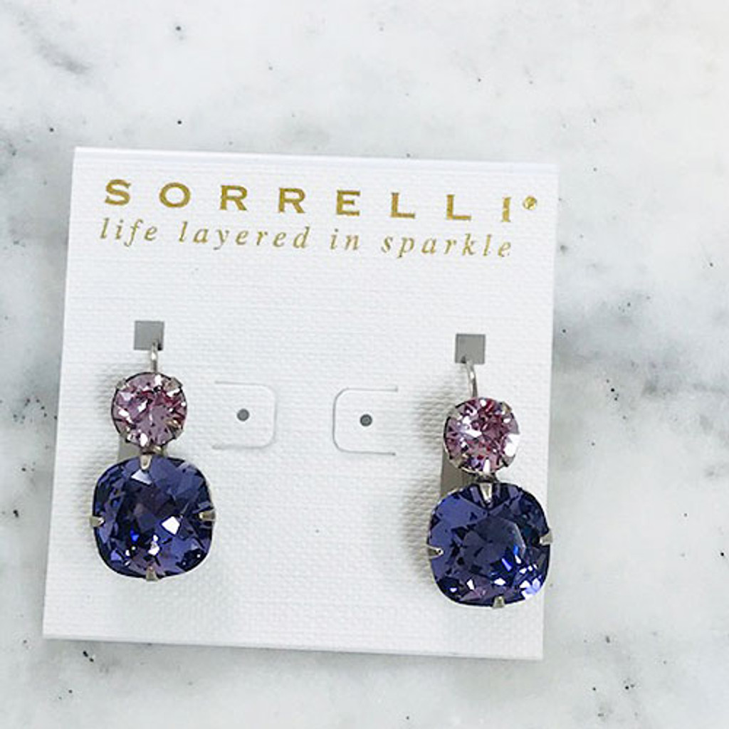 Sorrelli Pink & Purple Crystal Earring