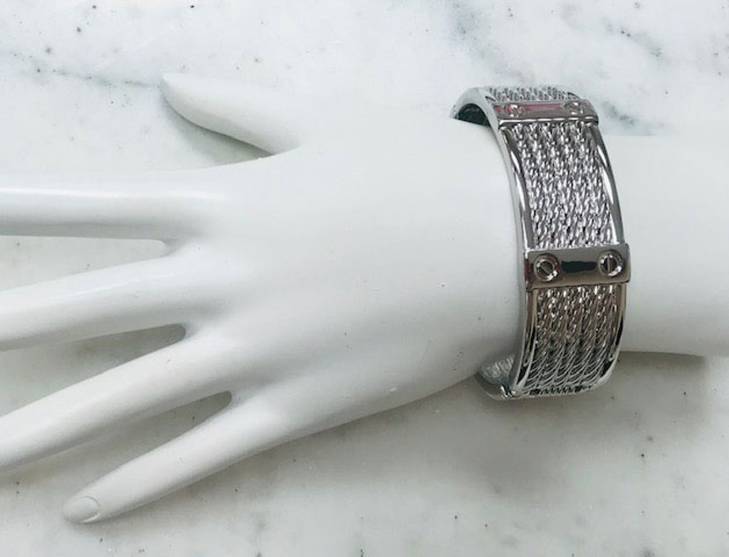 Silver Twisted Cables Bangle
