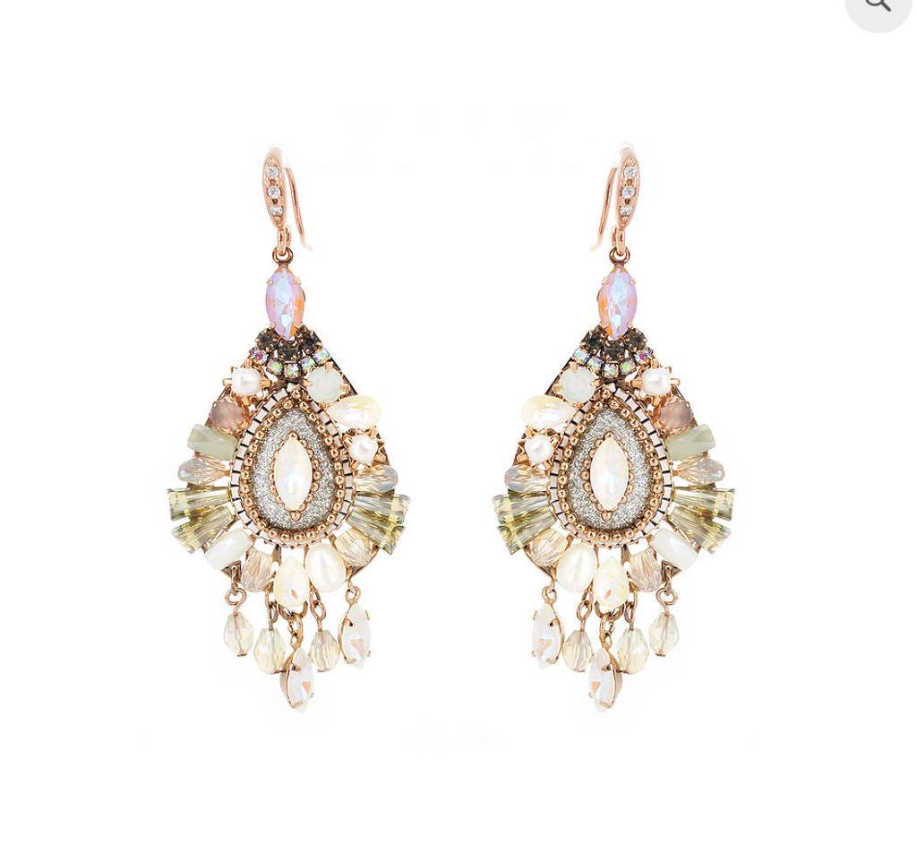 Neutral Hues Crystal Jubilee Teardrop Earring